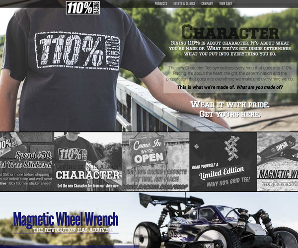 110% Racing Website
