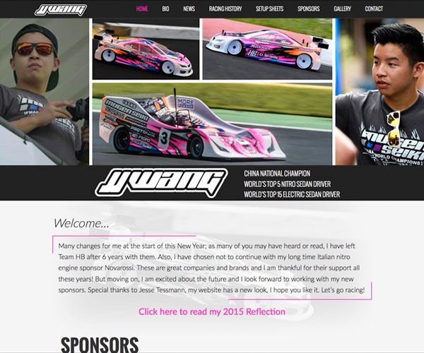 JJ Wang Racing Website