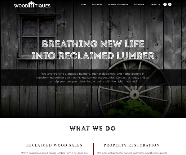Wood-n-Tiques Website